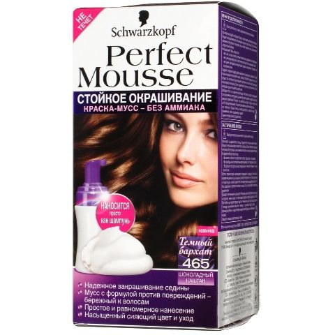 ������ ��� ����� SCHWARZKOPF perfect mouss� ��� 465, ���������� ������