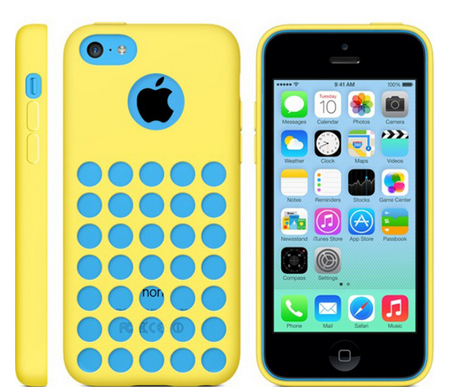 Чехол Apple iPhone 5C Case (Plus) Желтый