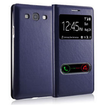 Чехол-книжка S View Cover для Samsung Galaxy S3 mini, темно - синий