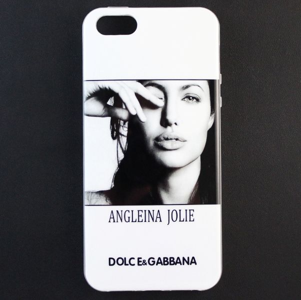 Чехол Dolce&Gabbana для iPhone 5/5S Angeleina Jolie Вид 2