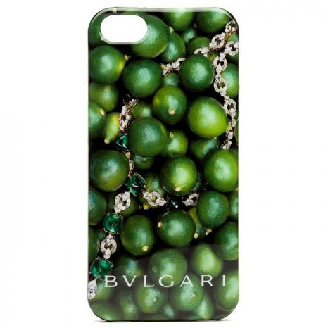 Чехол для iPhone 5/5S BVLGARI Italy, лайм