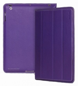 Чехол - книжка для iPad 2/3/4  Yoobao iSmart Leather Case, фиолетовый