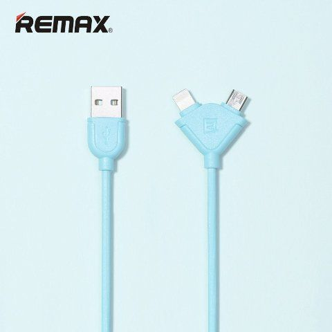 ���� ������ REMAX 2 � 1 Lightning/micro USB Souffle RC-031T, �������