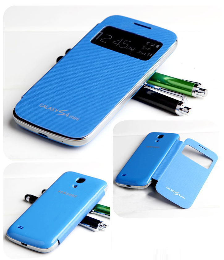 Чехол-книжка S View Cover для Samsung Galaxy S4 mini Синий