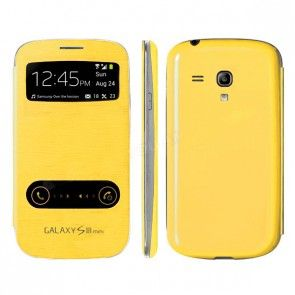 Чехол-книжка S View Cover для Samsung Galaxy S3 mini, желтый