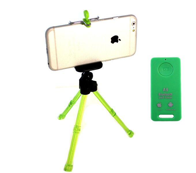 Настольный Monopod Bluetooth Remote Shutter Салатовый