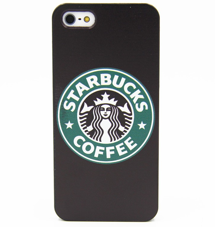 Чехол для Apple iPhone 5C (Starbucks Coffee) Черный