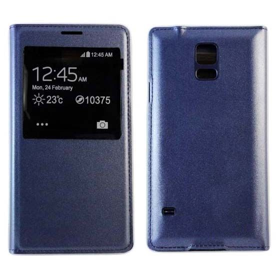 Чехол-книжка S View Cover для Samsung Galaxy S5 mini SM-G800F, темно - синий