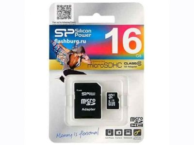 Silicon Power microSDHC 16GB Class 10