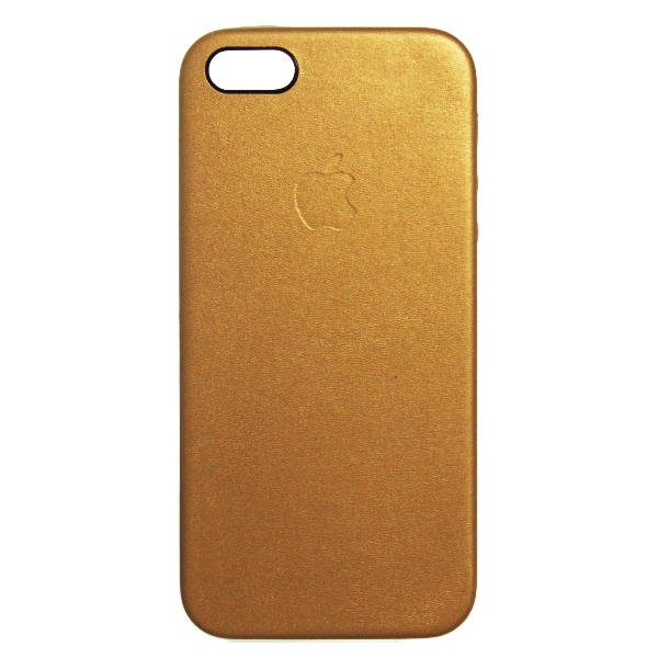 Чехол для iPhone 5/5S, Careo Leather Case Gold, золотой