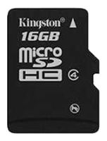 MicroSD 16GB  Kingston Class 4 без адаптера
