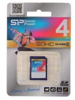 Silicon Power SDHC Card 4GB Class 10 купить