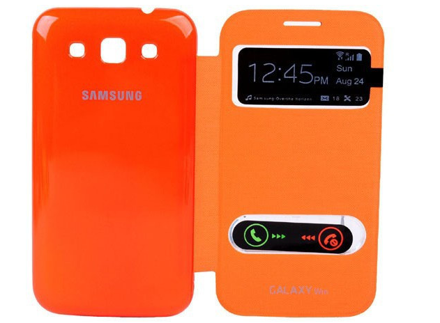 Чехол-книжка S View Cover для Samsung Galaxy Win (GT-I8552) Оранжевый