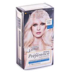 Краска для волос L`OREAL Preference Platinum ультраблонд, 180мл