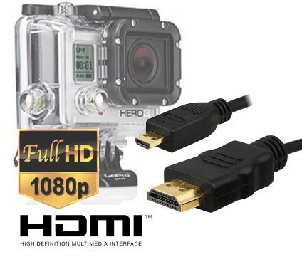 Кабель microHDMI на HDMI для GoPro HD Hero 3/3+/4