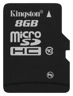 MicroSD  8GB  Kingston Class 10 UHS-I без адаптеров