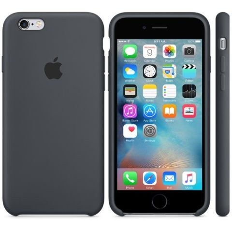 Чехол для iPhone 6/6S, Careo Silicone Case Space Gray, темно - серый