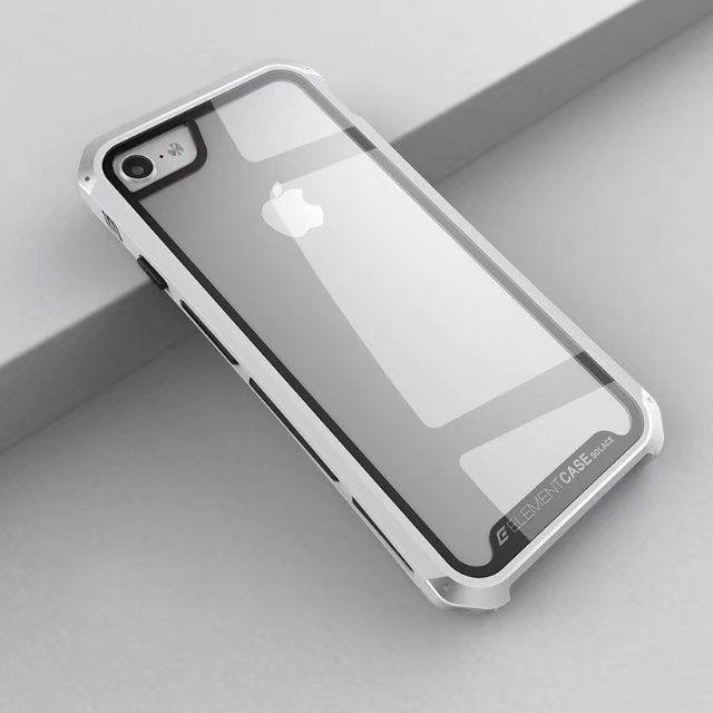 buy popular 33ffc 1d0d4 Противоударный чехол для iPhone 8 Plus, Element Case Solace Glass, белый с  серебристым