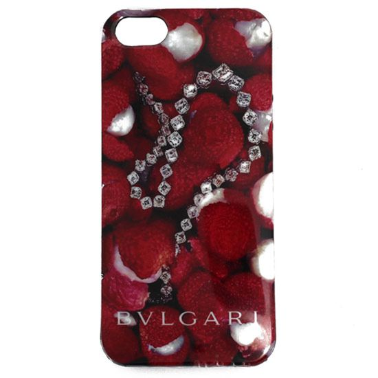 Чехол для iPhone 5/5S BVLGARI Italy, земляника