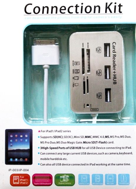 USB адаптер кард-ридер Connection Kit Card Reader для iPad 1/2/3 купить