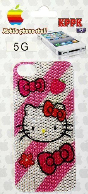 Наклейка для Apple iPhone 5 KPPK (Hello Kitty #2) Стразы купить