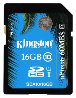SDHC 16GB  Kingston Class 10 UHS-I Ultimate (90/45 Mb/s)