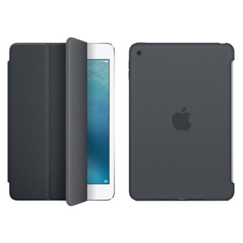 Чехол для Apple iPad Mini 4, Silicone Case/Smart cover Charcoal Gray, черный купить