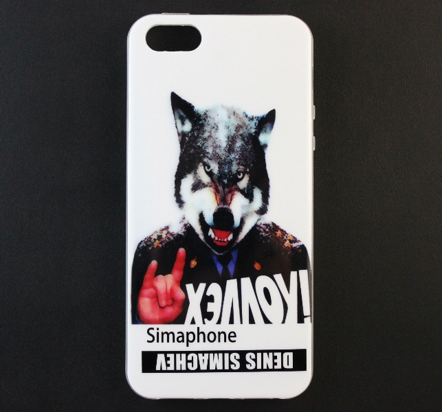 "Чехол Denis Simachev для Apple iPhone 5/5S Simaphone ""Хэллоу!"" купить"