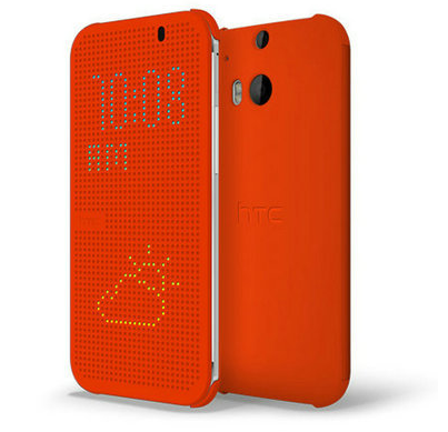 Чехол-книжка для HTC One M8 DOT VIEW FLIP CASE Оранжевый