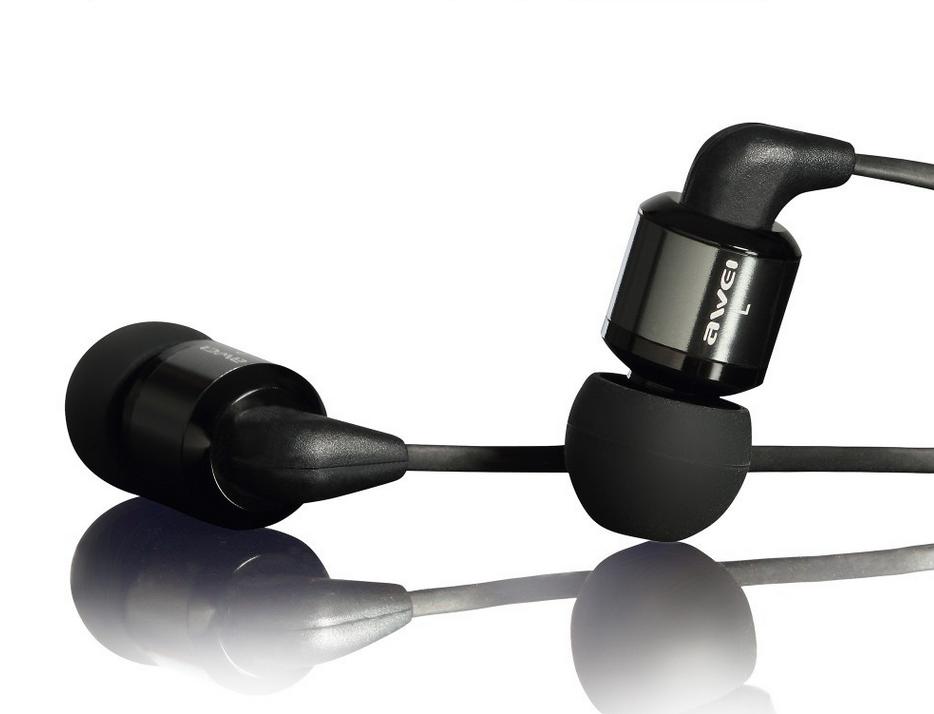 Наушники Awei ES600i (вакуумные с контроллером) Черные - купить в ... 230e7a284a324