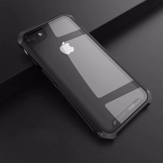 new arrival 9174a aca8a Противоударный чехол для iPhone 8 Plus, Element Case Solace Glass, черный