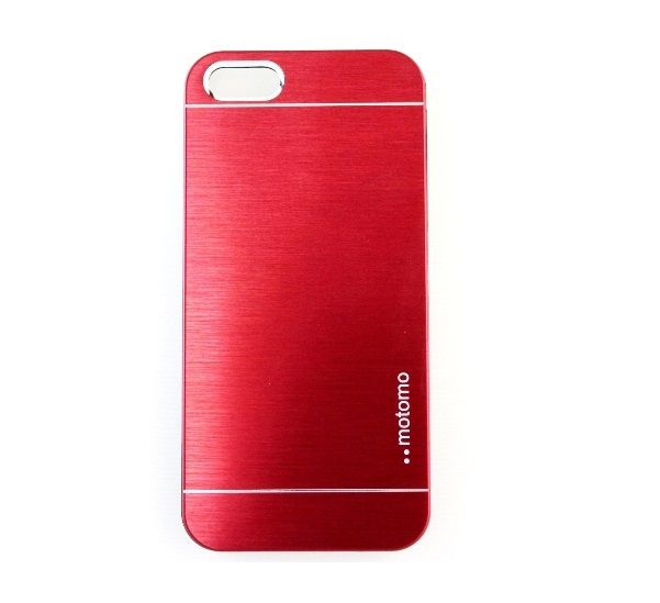 Чехол iPhone 5/5S (Motomo INO METAL ALL) Бордовый