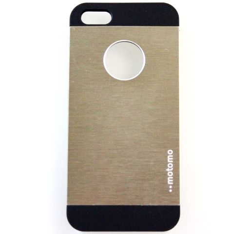Чехол iPhone 5/5S (Motomo INO METAL CASE) UNO Золотой