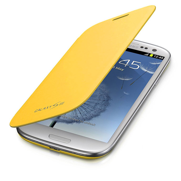 Чехол для Samsung Galaxy S3 Flip Cover, Желтый