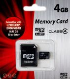 Memory Card MicroSDHC 4GB Class 4 + SD adapter