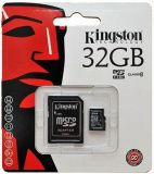 Карта памяти MicroSD 32GB Kingston Class 10 + SD адаптер