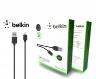 Кабель BELKIN Charge / Sync cable white Lightning для Apple iPhone, iPad, iPod (Черный)